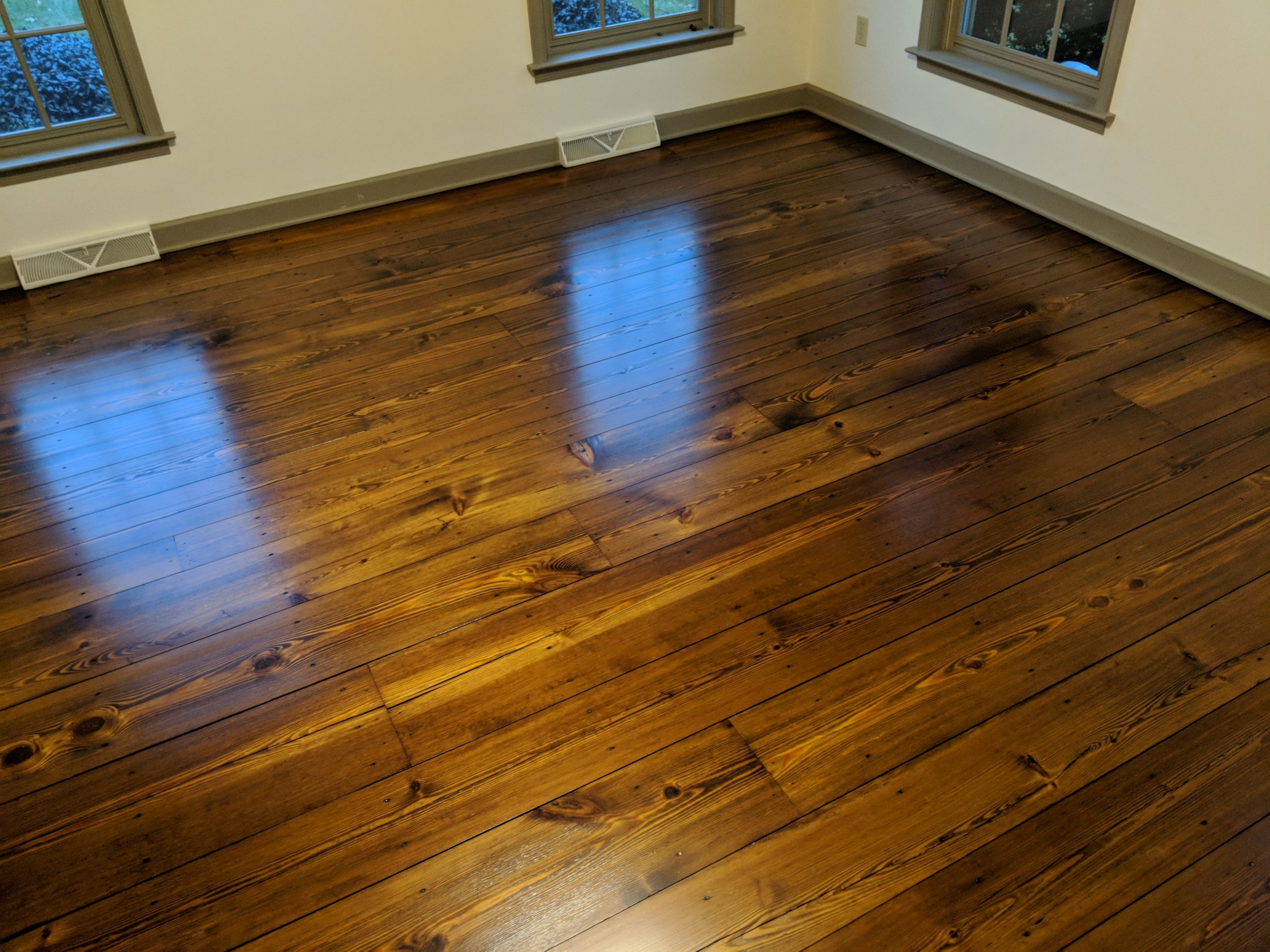yellow pine stained 2
