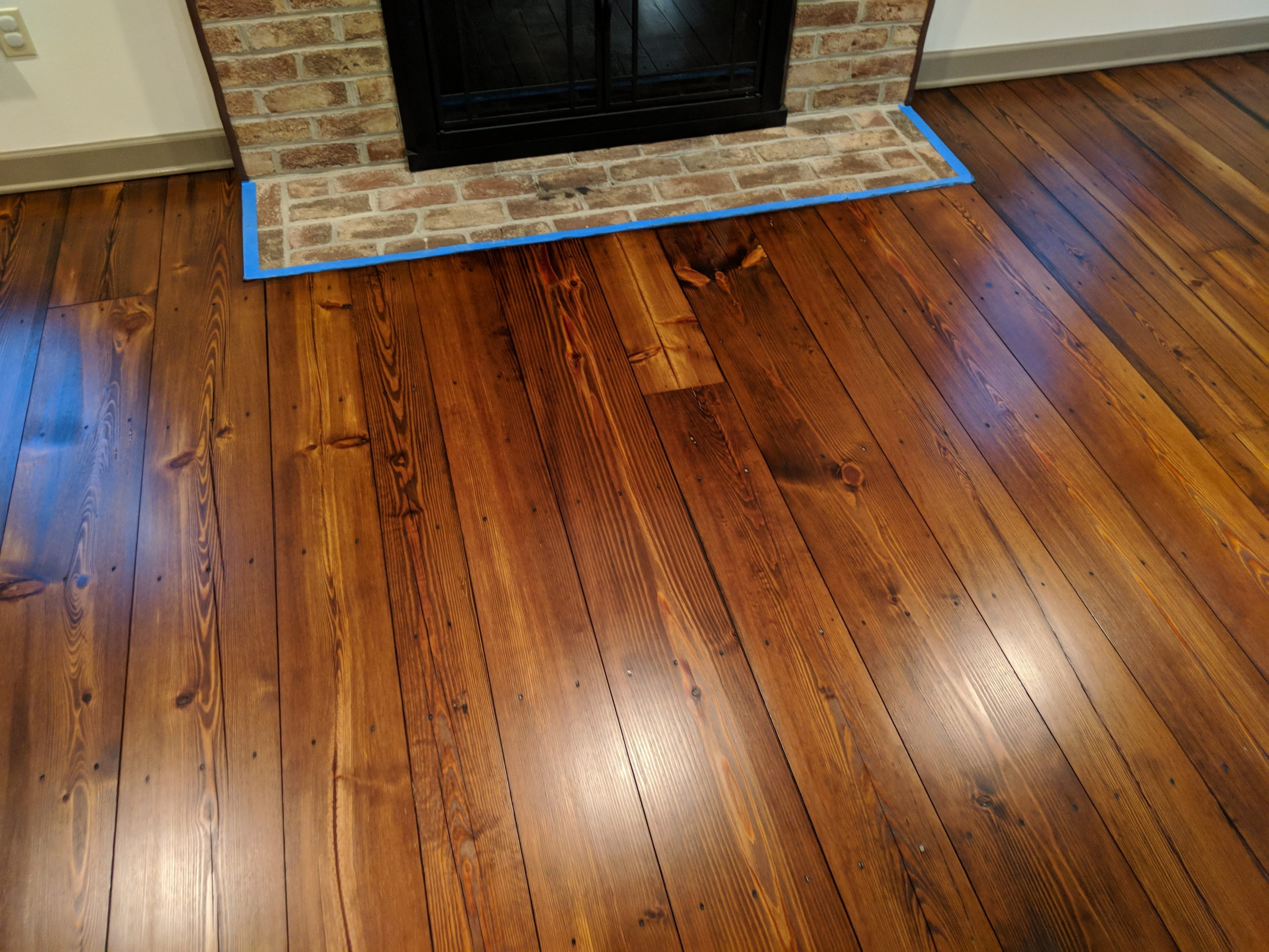 yellow pine stained 3