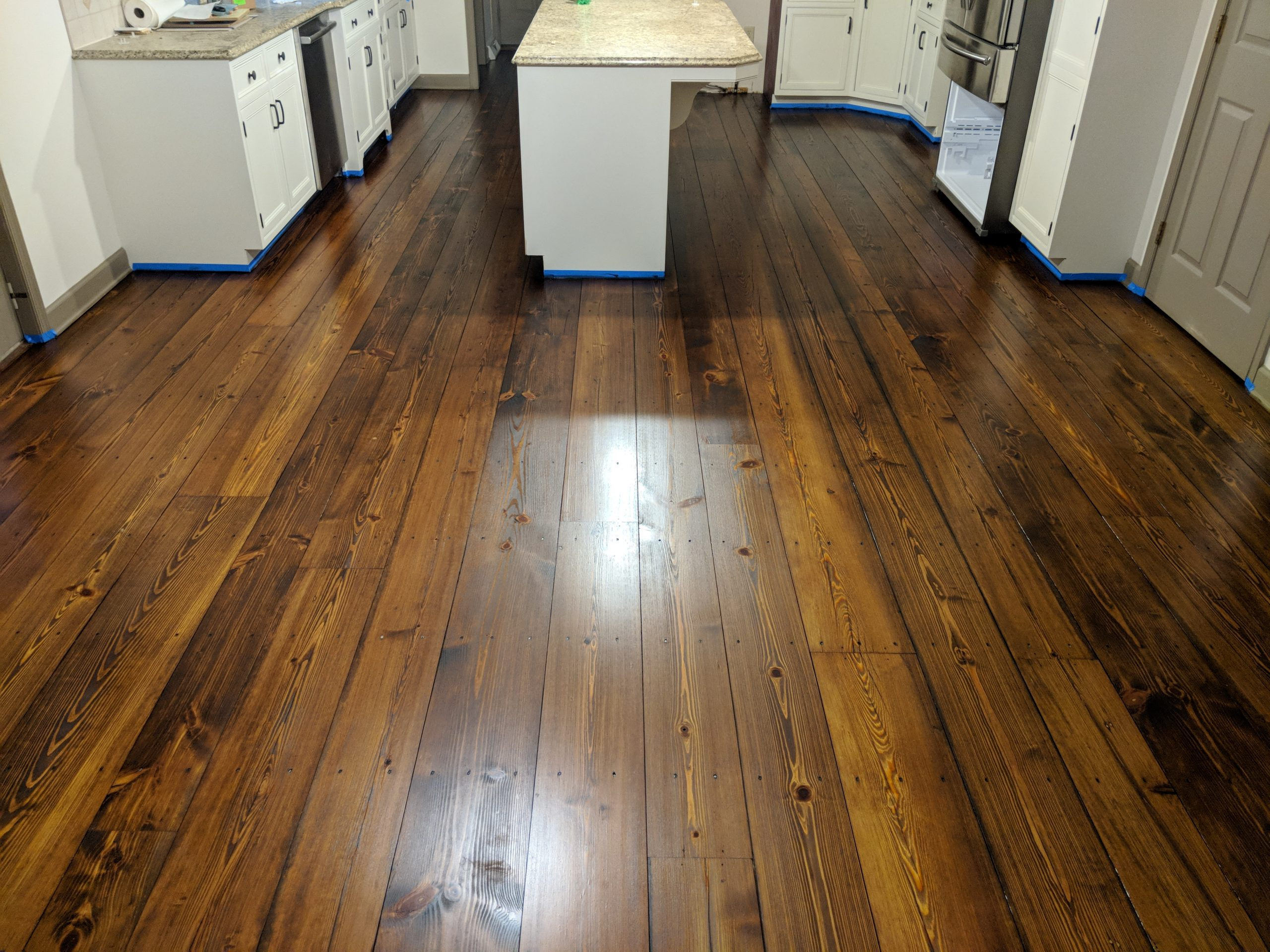 yellow pine stained 4